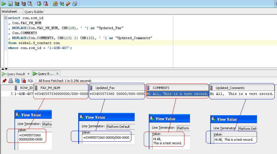 Oracle select where like